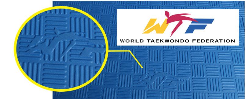 "High Density WTF Taekwondo Gym Foam Mat 40""*40"" 1"""